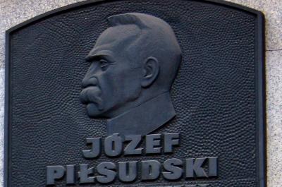 Tablica pamiątkowa poświęcona Józefowi Piłsudskiemu - Łódź