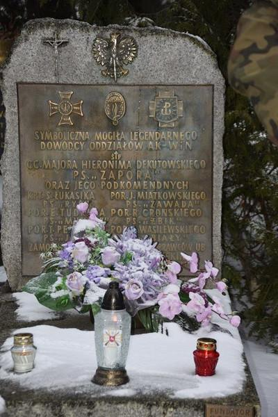 """Symboliczny grób mjr. cc. Hieronima Dekutowskiego ps. """"Zapora"""" - Lublin"""