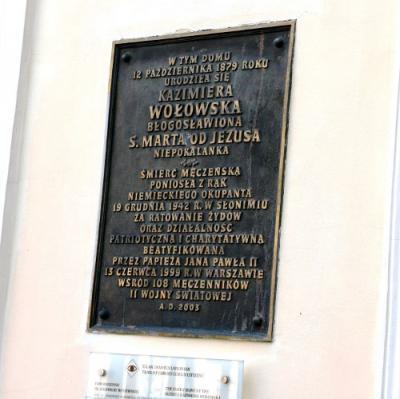 Tablica pamiątkowa bł. Kazimiery Wołowskiej - Lublin