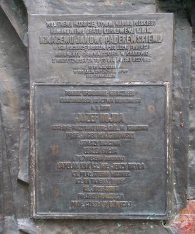 Pomnik Ignacego J. Paderewskiego - Kraków