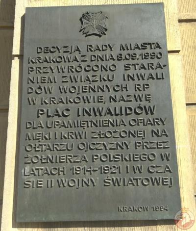 Tablica pamięci żołnierzy poległych w latach 1914-1921 i podczas II wojny światowej - Kraków