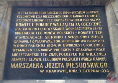 Tablica upamiętniająca Komitet Pomocy Walczącym za Ojczyznę - Kraków