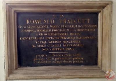 Tablica upamiętniająca Romualda Traugutta - Kraków