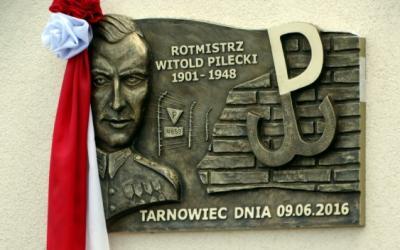Tablica upamiętniająca Witolda Pileckiego - Tarnowiec