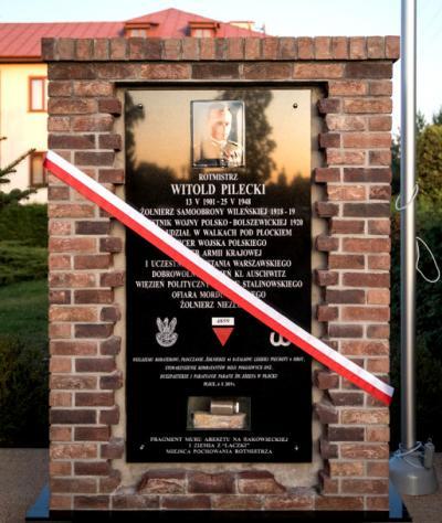 Tablica upamiętniająca rotmistrza Witolda Pileckiego - Płock