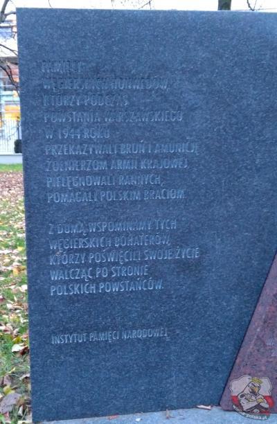 Pomnik pamięci Węgierskich Honwedów - Warszawa