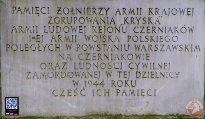 Pomnik upamiętniający poległych w Powstaniu Warszawskim na Czerniakowie - Warszawa