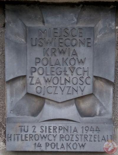Tablica pamiątkowa przy ulicy Wilanowskiej 6 - Warszawa