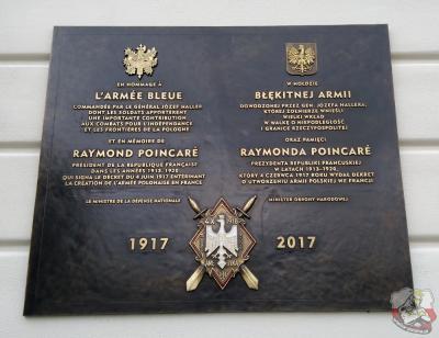 Tablica w hołdzie Błękitnej Armii - Warszawa