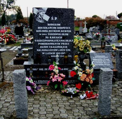 Pomnik upamiętniający Polaków pomordowanych przez ukraińskich nacjonalistów - Korfantów