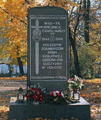 Pomnik upamiętniający żołnierzy Armii Krajowej - Nysa