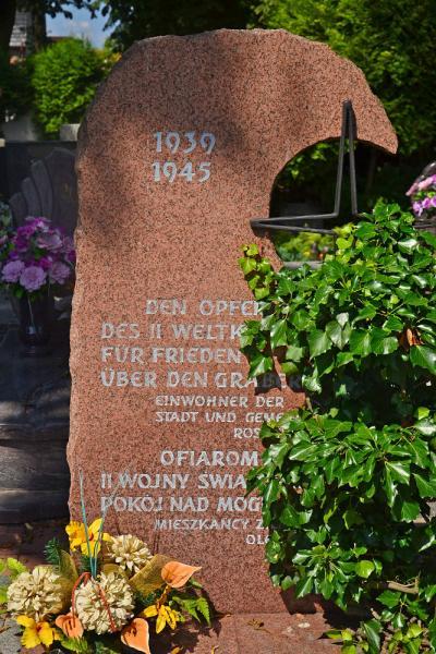 Pomnik upamiętniający ofiary II wojny światowej - Olesno