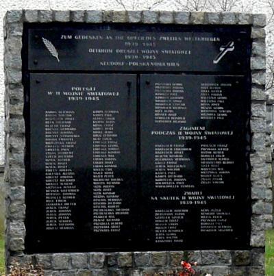 Pomnik upamiętniający mieszkańców ofiary II wojny światowej - Polska Nowa Wieś
