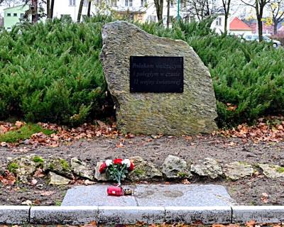 Głaz upamiętniający Polaków poległych podczas II wojny światowej - Zawadzkie