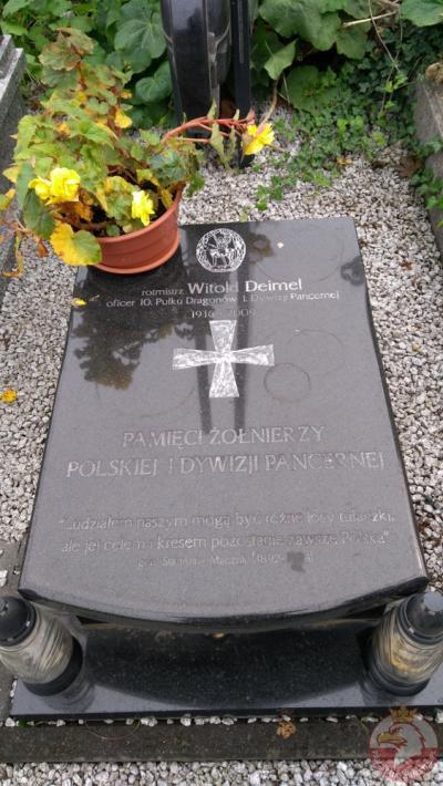 Grób rotmistrza Witolda Deimel - Bielsko-Biała