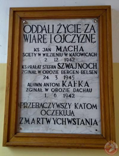 Tablica pamięci zamordowanych za wiarę i Ojczyznę - Chorzów