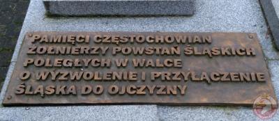 Pomnik ku czci Częstochowian żołnierzy Powstań Śląskich - Częstochowa