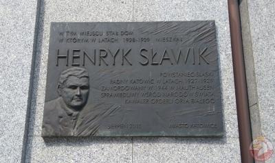 Tablica pamiątkowa Henryk Sławika - Katowice