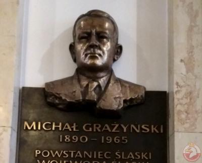 Tablica upamiętniająca Michała Grażynskiego - Katowice
