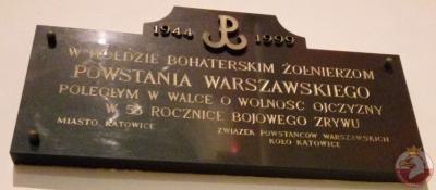 Tablice w hołdzie żołnierzom AK - Katowice