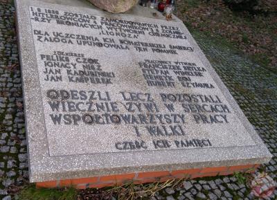 Pomnik ku czci żołnierzy Wojska Polskiego i pracowników Zakładów Chemicznych Lignozy - Knurów