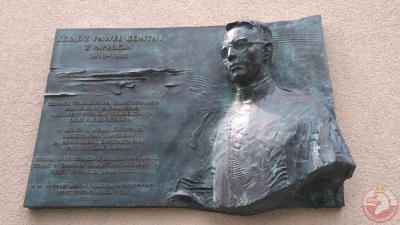 Tablica upamiętniająca ks. Pawła Kontnego - Tychy