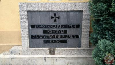 Tablica upamiętniająca Powstańców poległych za wolność Śląska - Tychy