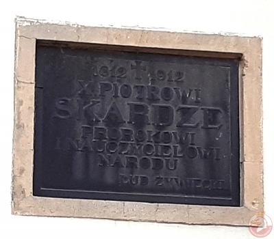 Tablica upamiętniająca Piotra Skargę - Żywiec