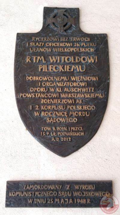 Tablica upamiętniająca rtm. Witolda Pileckiego - Poznań